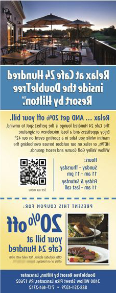 Cafe Brochure with QR Code